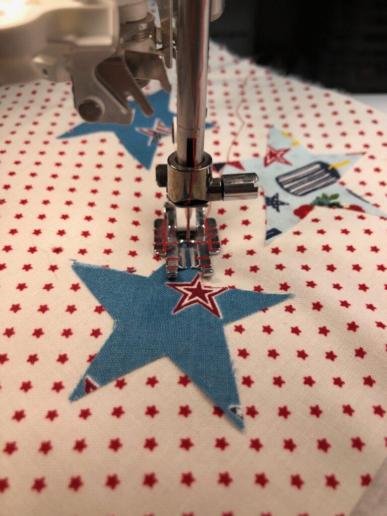 stitching appliques