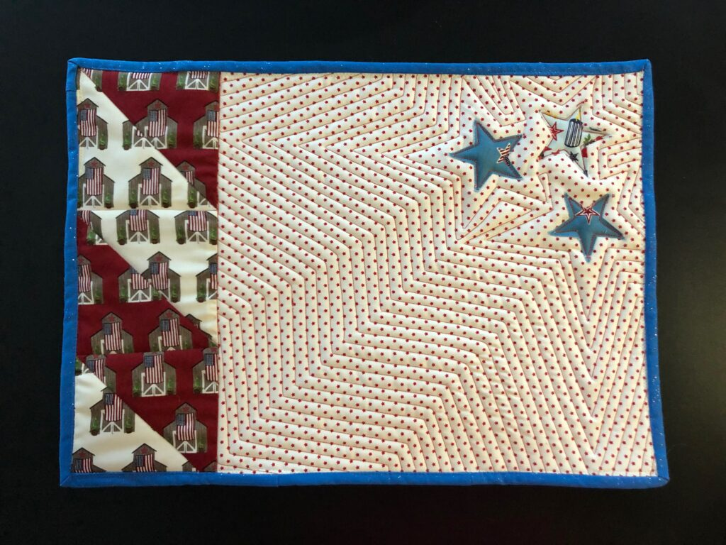 quilted team USA place mat