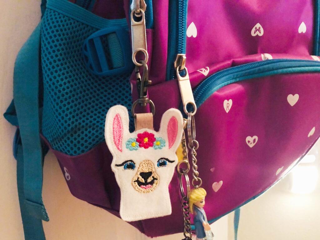 diy llama backpack charm