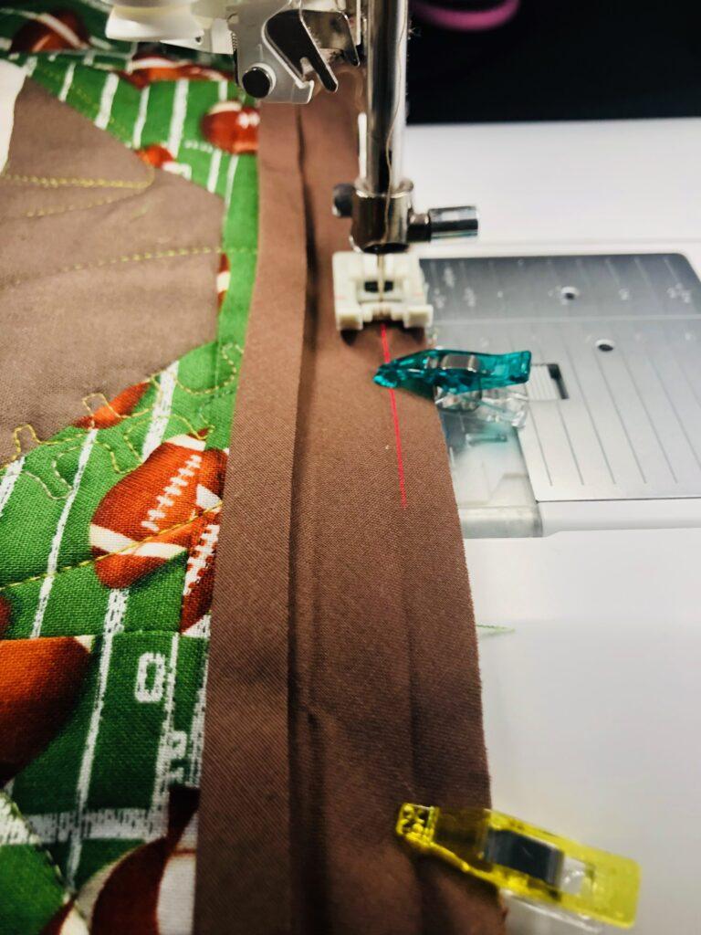 football table runner binding