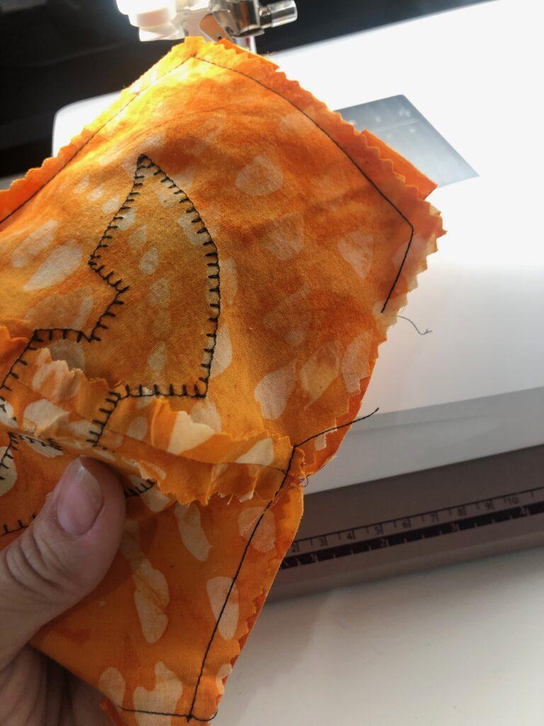stitch ribbon ties