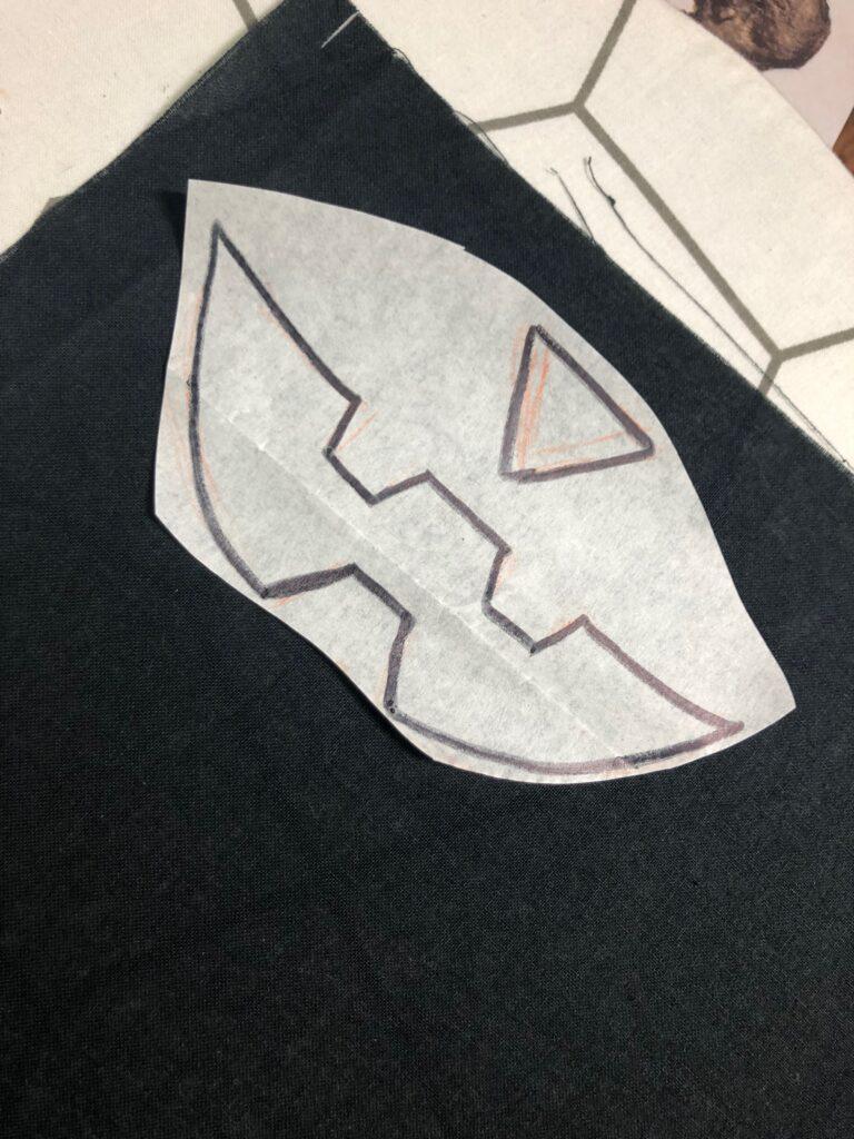mask-o-lantern applique pieces