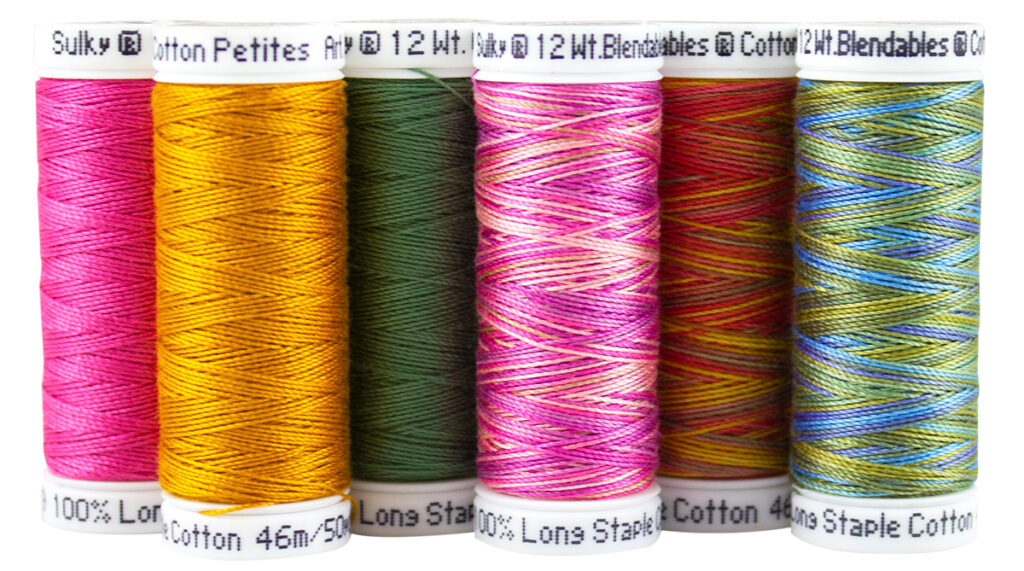 cross-stitch sample thread pack