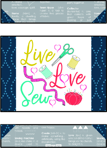 love to sew piecing in progress