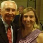 Governor Stephen Beshear with Kentucky Derby Tours Claire Gilbert