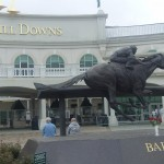 Barbaro statue outside Churchill Downs