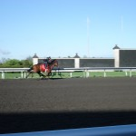 Clear skies as we watch Keeneland morning workouts