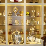 Trophy wall at Darley Farm