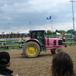 Even the tractors are pink