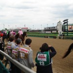 Kentucky Oaks post parade begins
