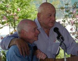 Trainer Jack Van Berg and jockey Chris McCarron at Alysheba memorial Derby week 2009