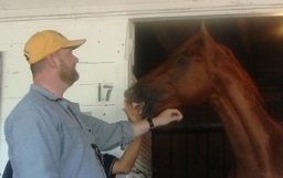 Doug O'Neill with Kentucky Derby winner I'll Have Another