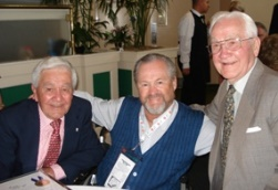 Ron Turcotte (center) with 1936 Kentucky Derby winning jockey Babe Hanford (left), and Carl Hanford trainer of Kelso (right) on Kentucky Derby Tours in 2007