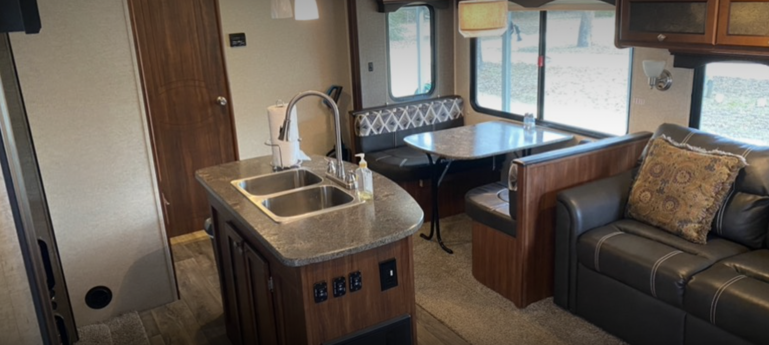 Inside view of rv living area