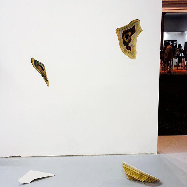Remanentes, 2018. Intervención (madera reciclada)