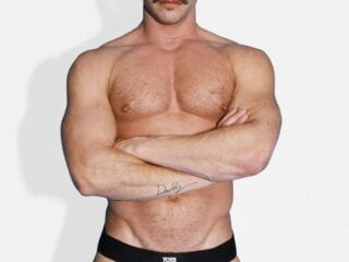 Tom of Finland leather and elastic black jock strap