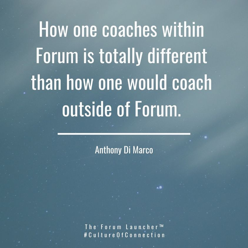 Forum Presentation Coaching Tips