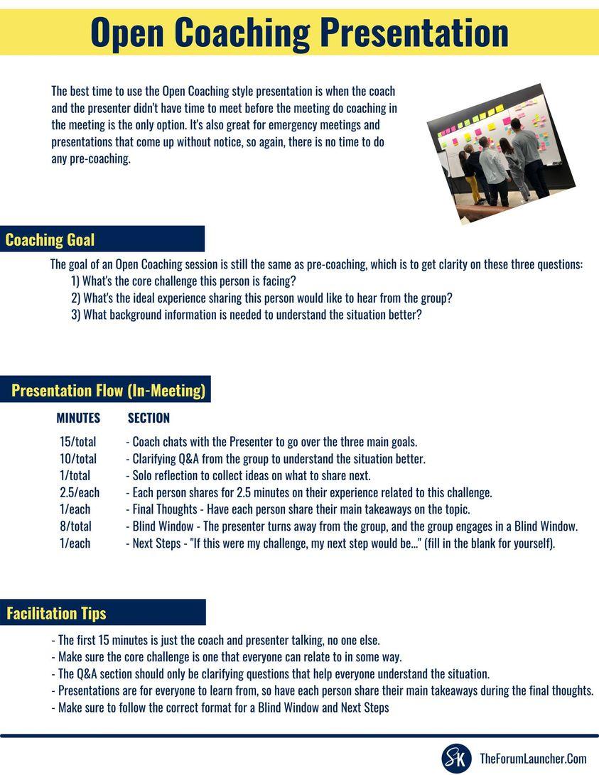Open Coaching Presentation