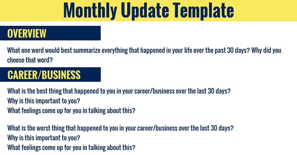 Monthly-Update-Template