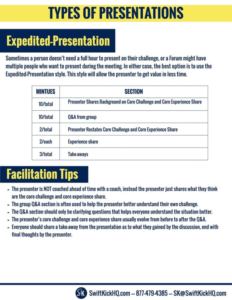 The Expedited-Presentation Format