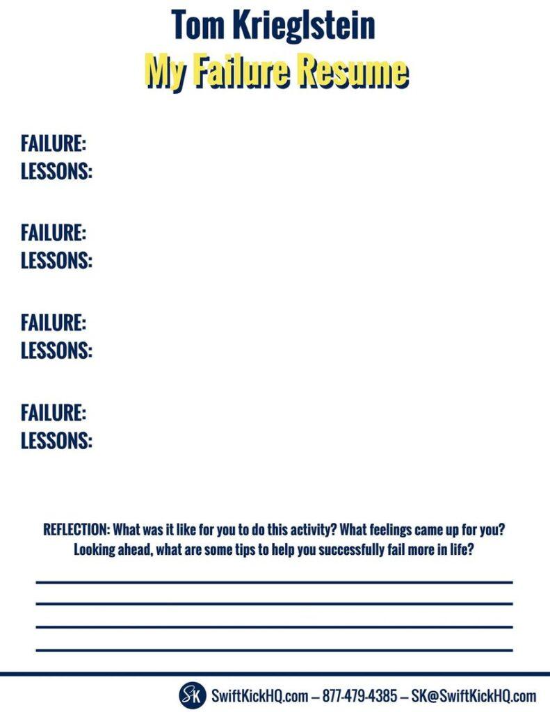 The Failure Resume