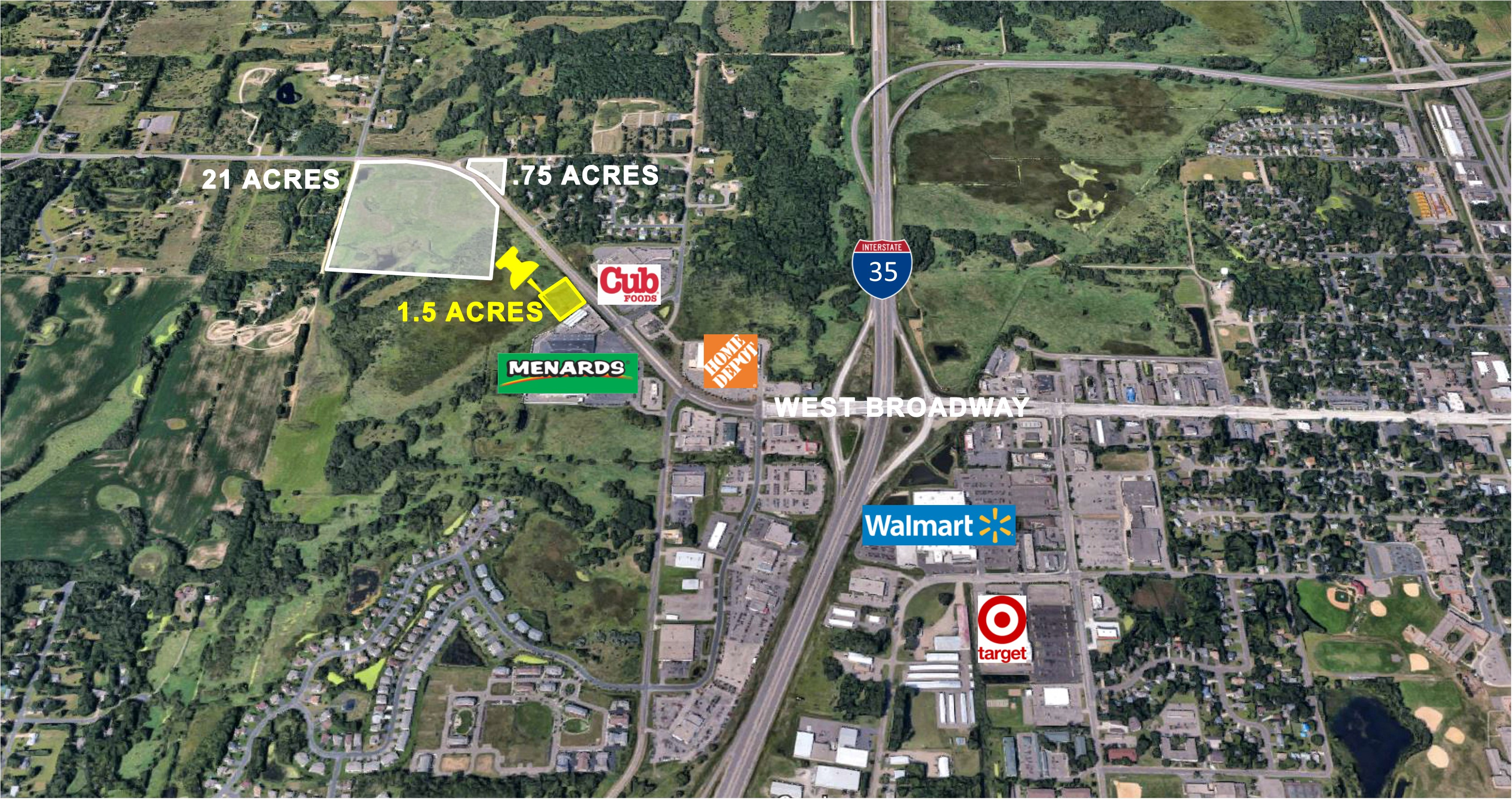 Forest Lake, 1.5 Acres     Zoned B-3 Highway Business
