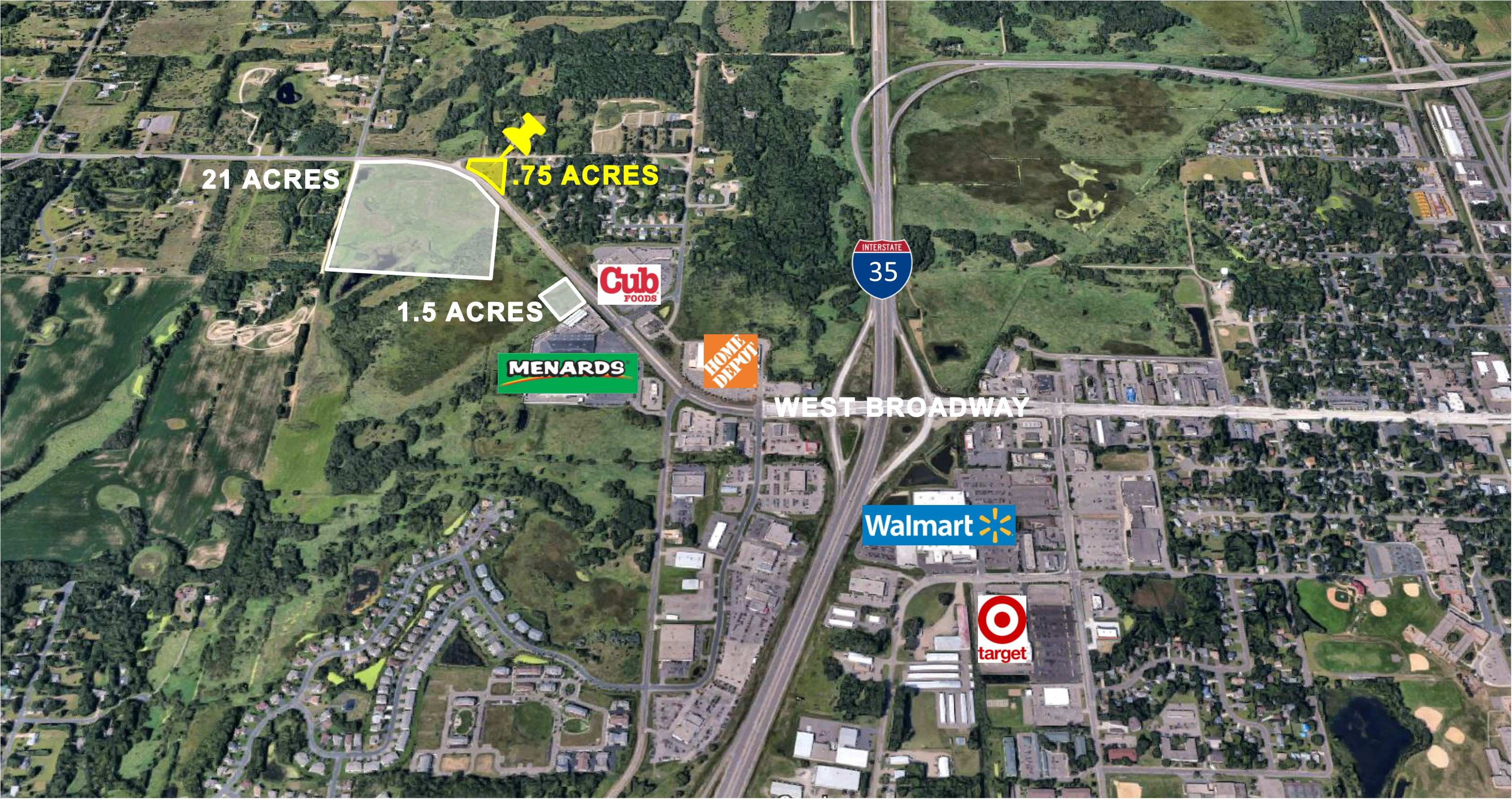 Forest Lake, .75 Acres  |  Zoned B-3  Highway Business