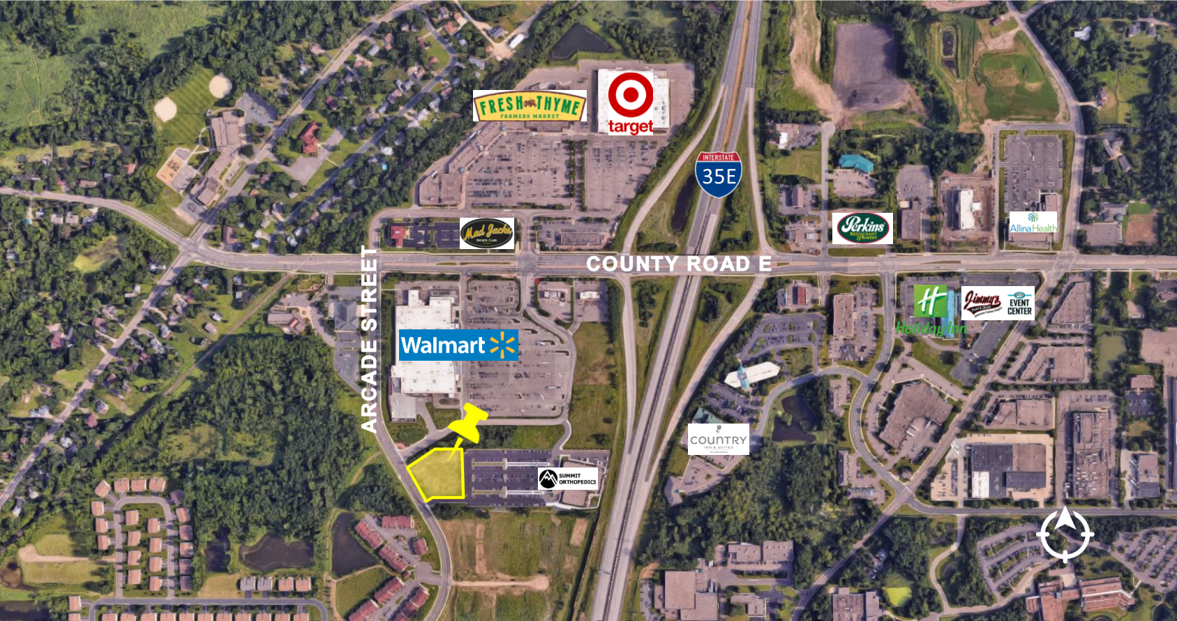 Vadnais Heights, 1.64 Acres     Zoned City Center