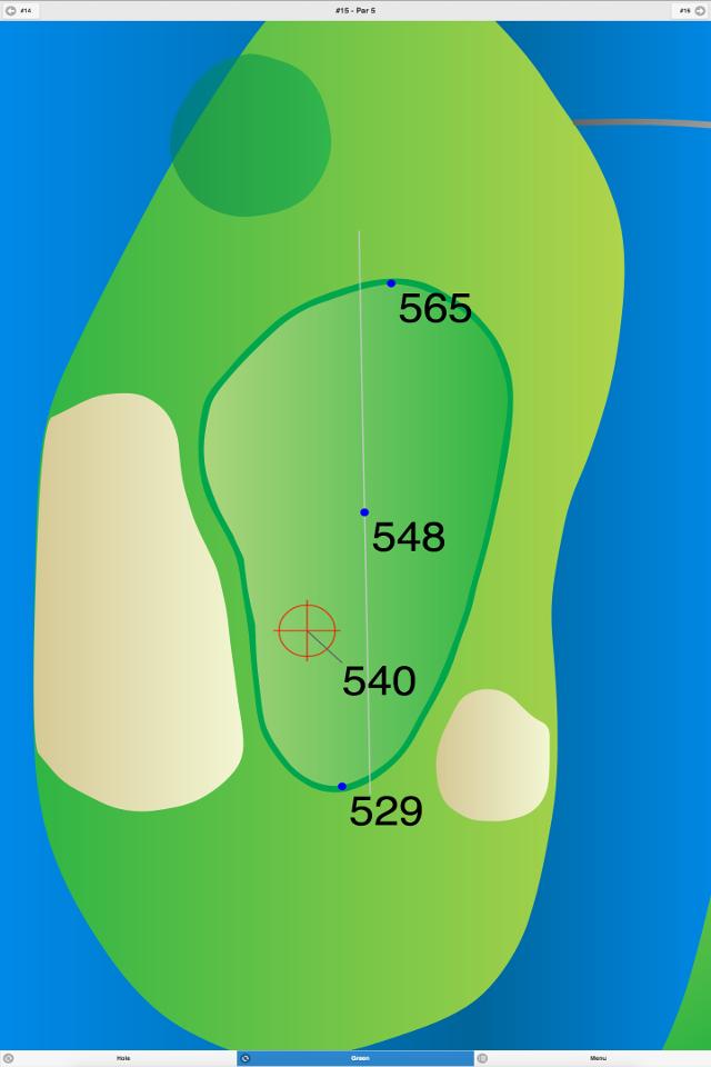 Golf GPS App Green 1 Screenshot