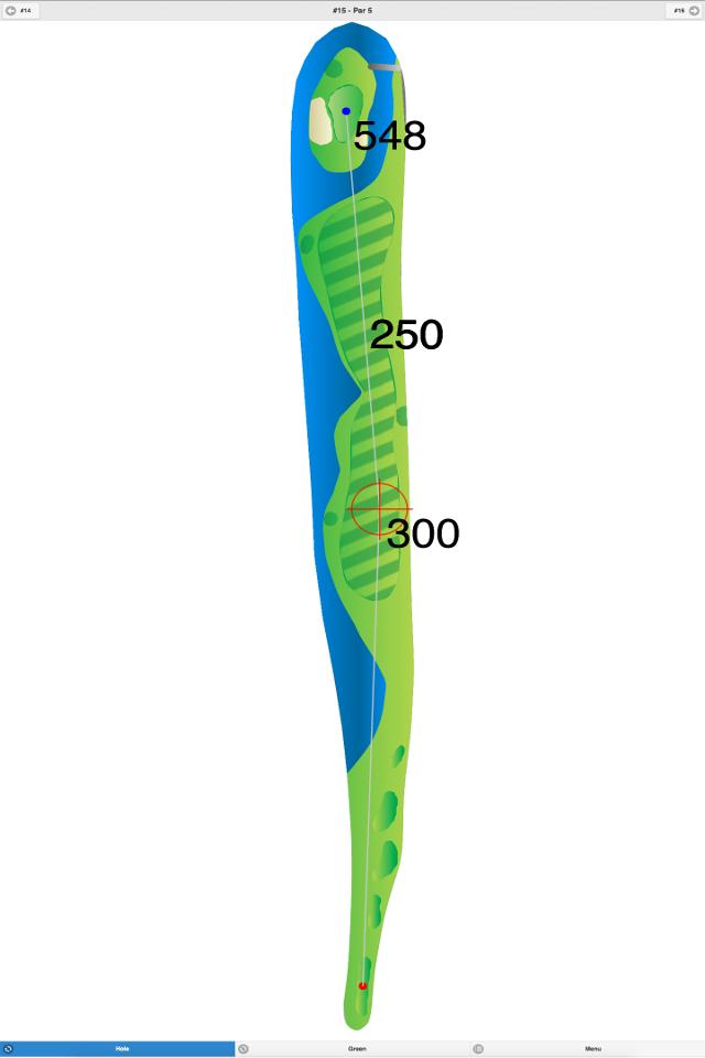 Golf GPS App Hole 1 Screenshot
