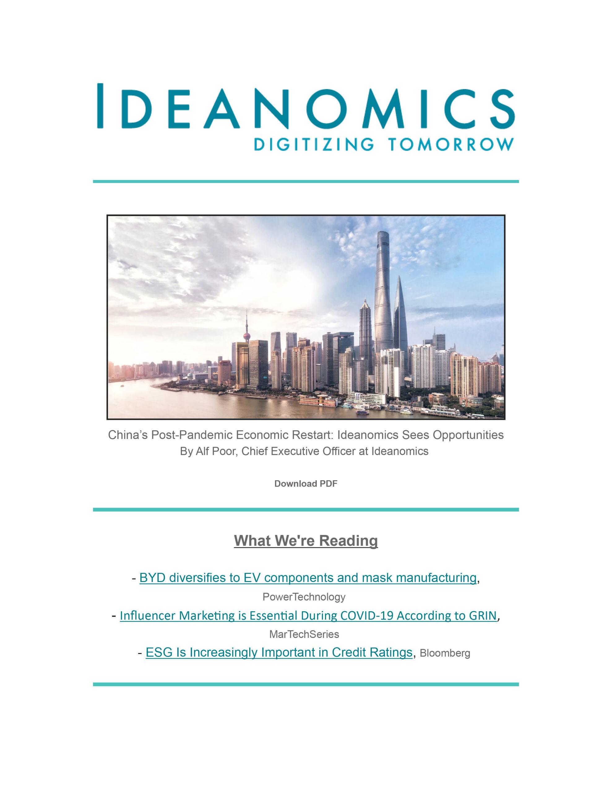 Ideanomics April 2020 Newsletter