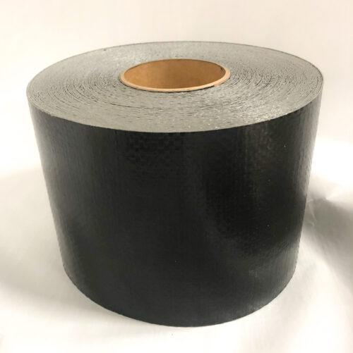 "6"" x 100' Heavy Duty Polyethylene Tarp Repair Tape (Black)"
