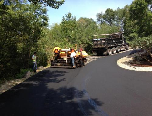 Paving a driveway on a hill pittore brothers