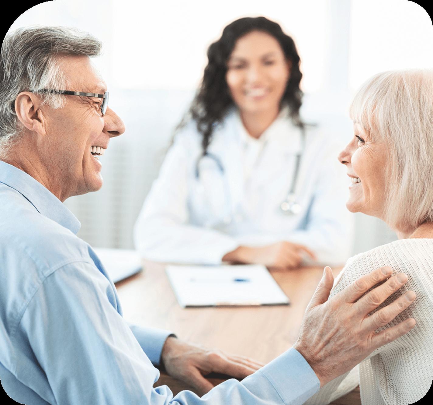 Doctor offer support for elderly couple