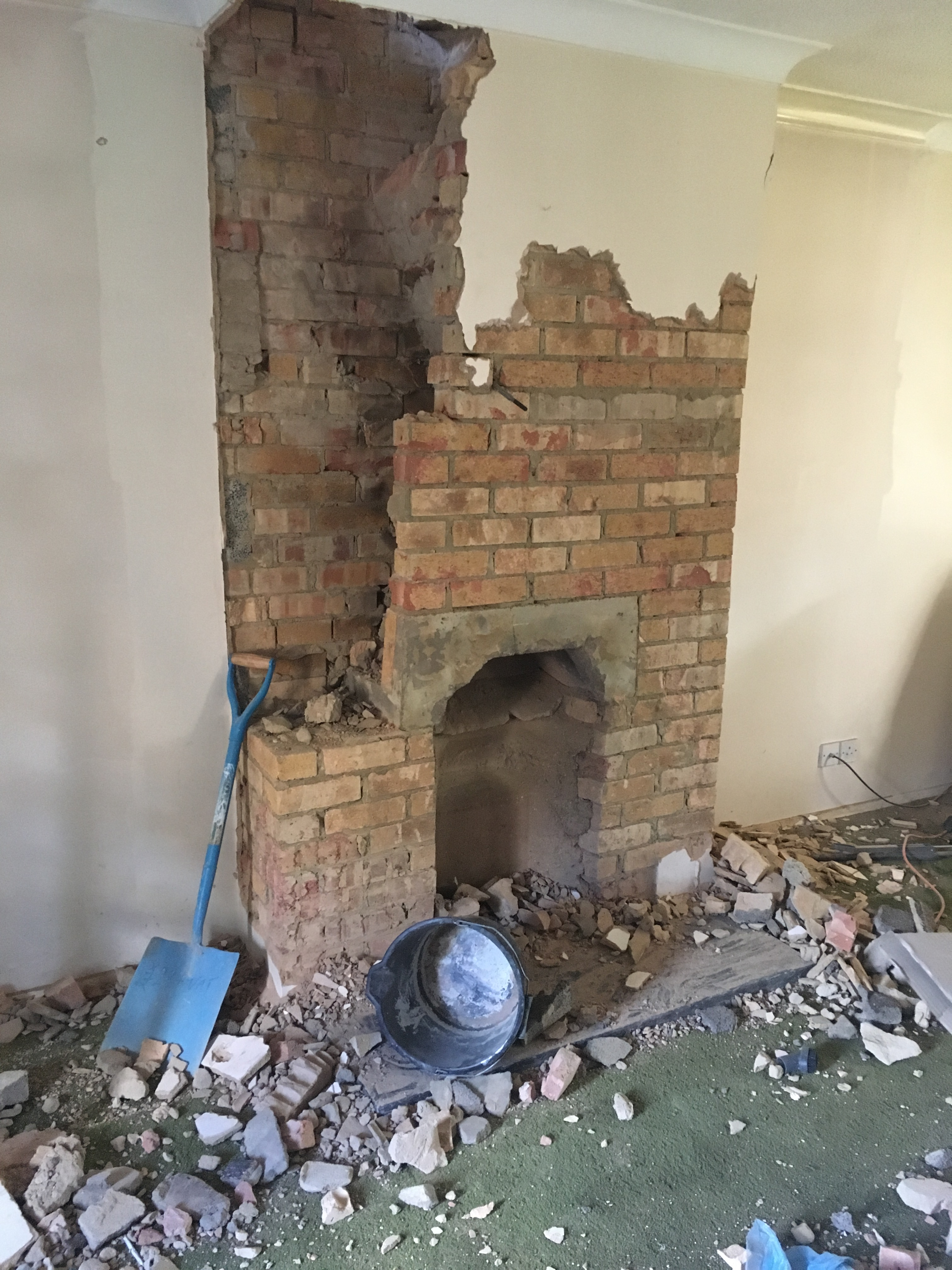 Refurbishments Chimney removal old