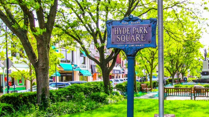 Hyde Park Square Sign