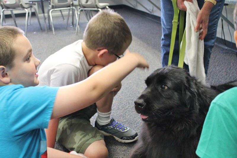 elementaryschool-children-with-dog