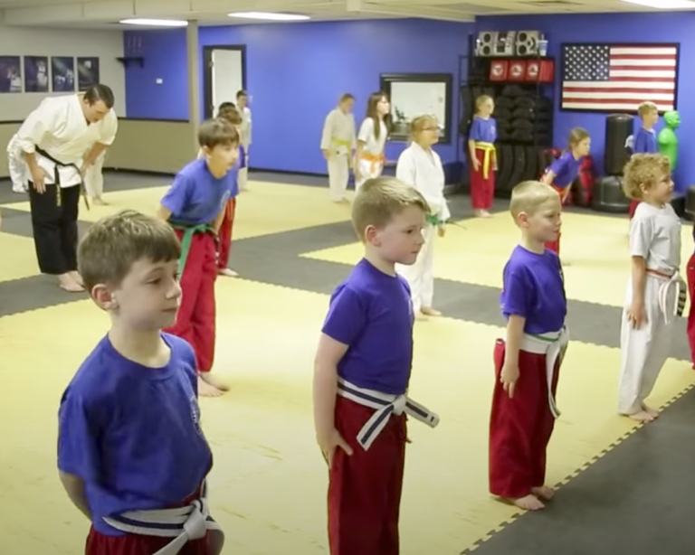 kids ready for karate class
