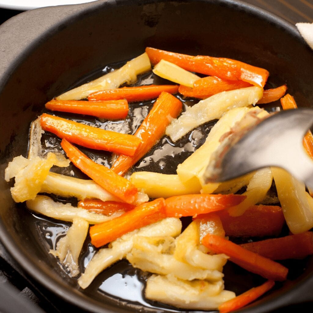 Fried Carrots and ParsnipsFried Carrots and Parsnips