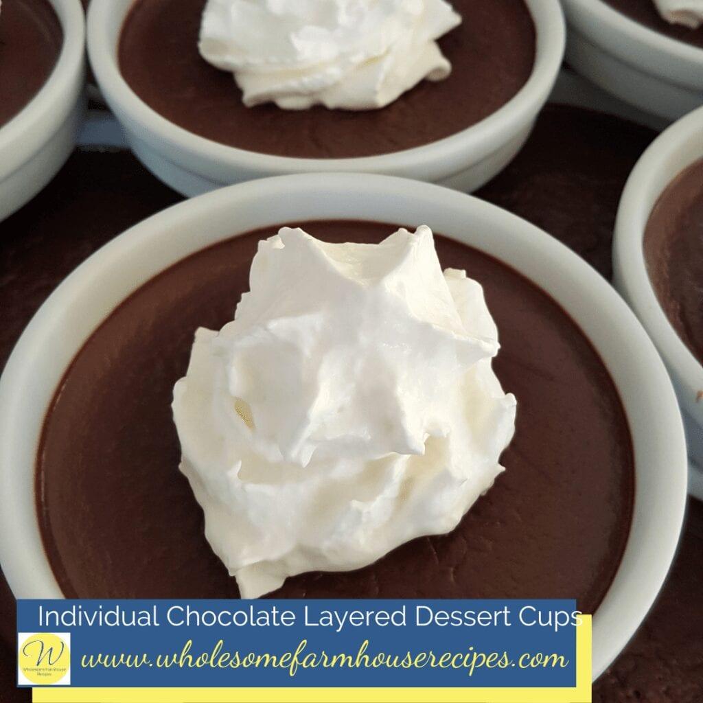 Individual Chocolate Layered Dessert Cups