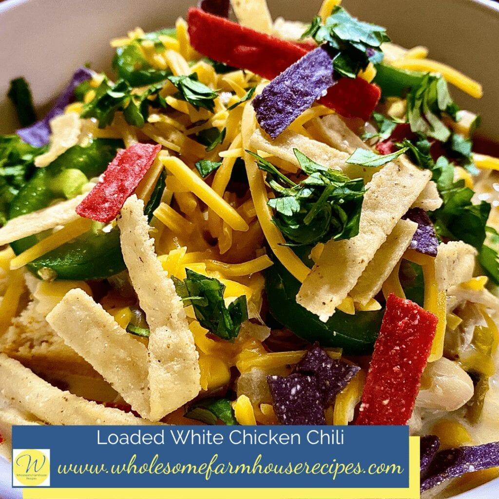 Loaded White Chicken Chili