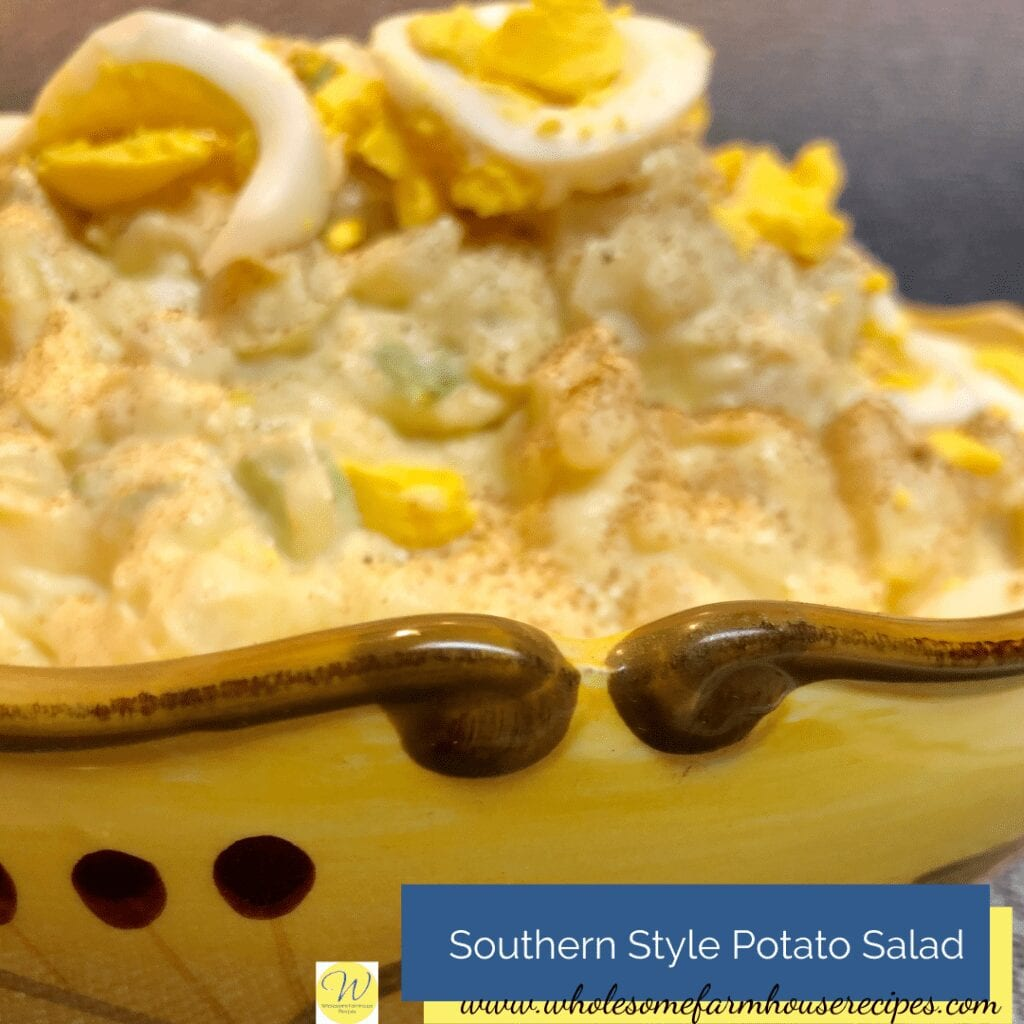 Southern Style Potato Salad In a Serving Bowl