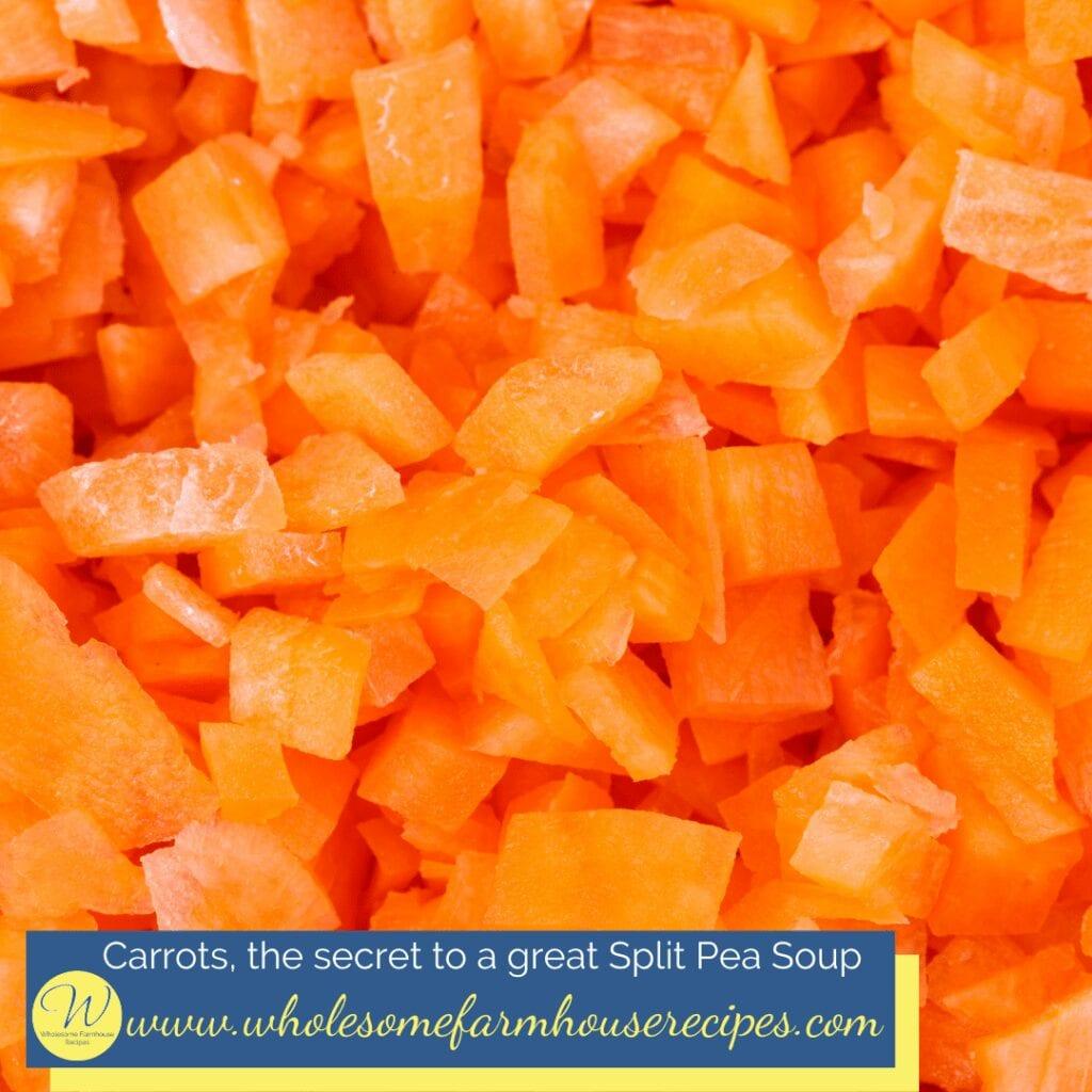 Carrots for Split Pea Soup