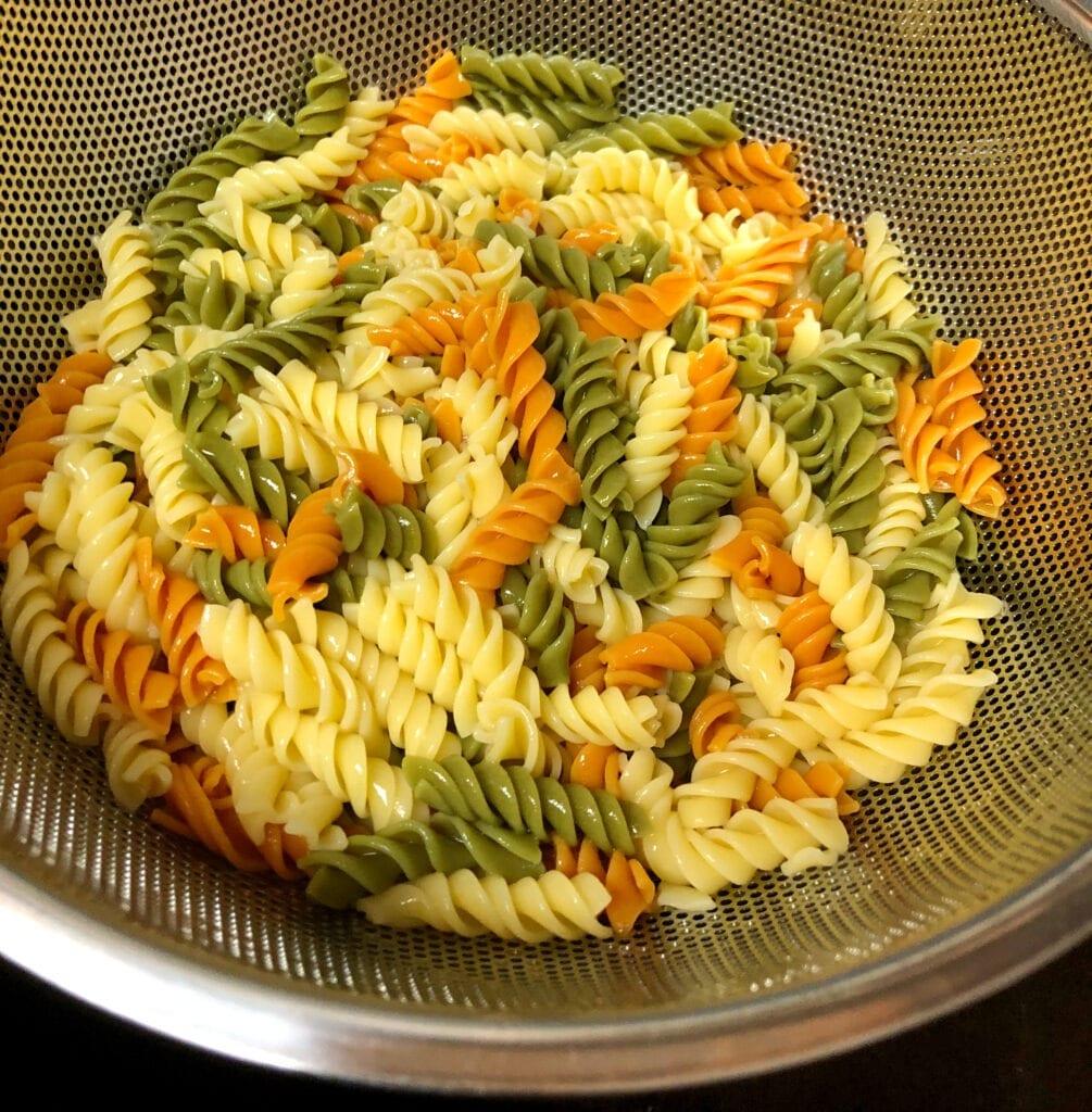 Cooked Tri Colored Pasta