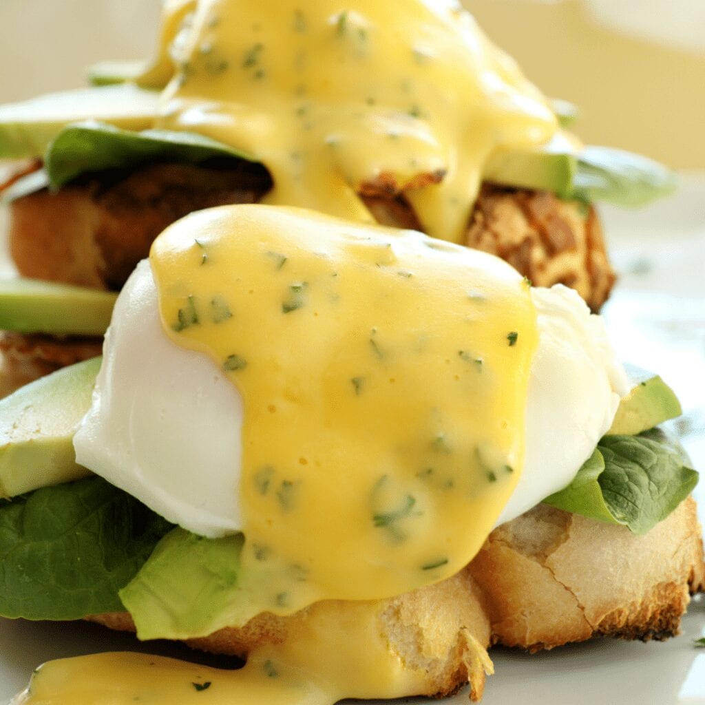 Eggs Benedict on Crispy Toast