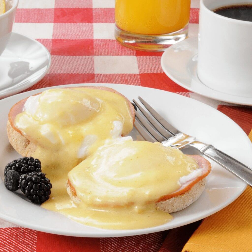 Saucy Eggs Benedict for Breakfast