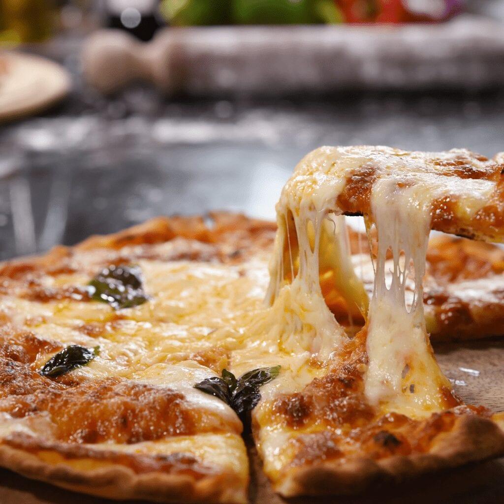 Serving Hot Pizza