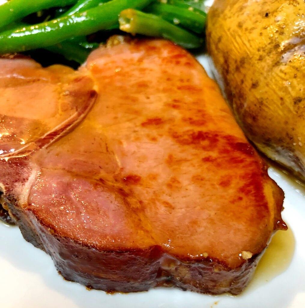 Smoked Pork Chop with Maple Glaze