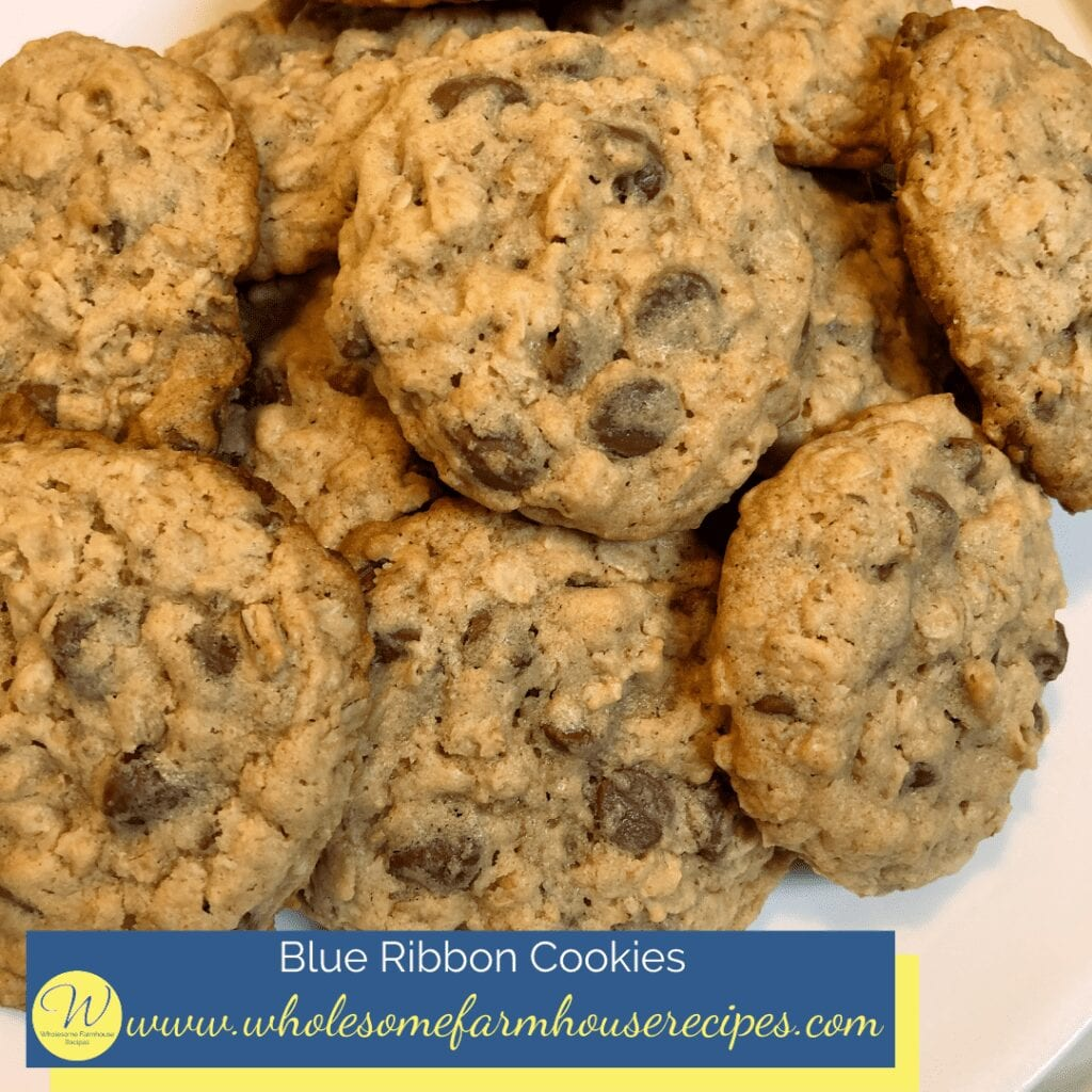 Blue Ribbon Cookie Piled on a Platter