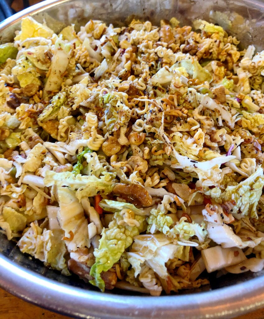 Large Bowl of Asian Cabbage Salad